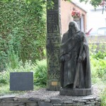 St Dogfael statue