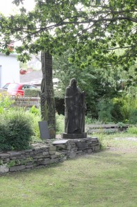 Photograph of St Dogfael in the Herb garden